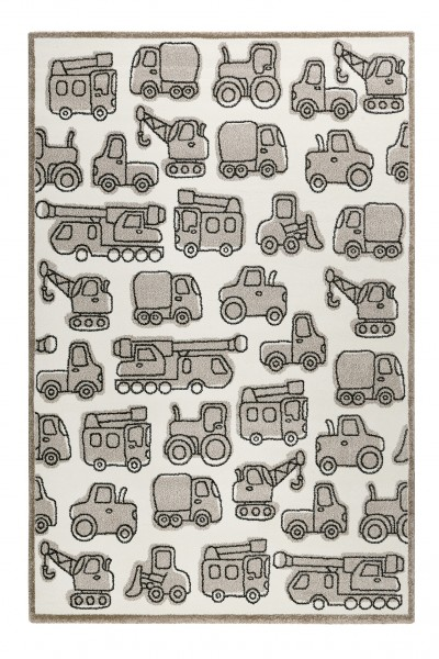 Esprit Kinderteppich » Vehicles « beige taupe grau