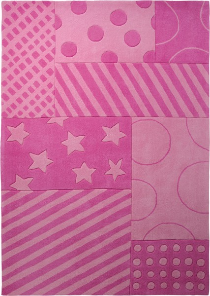 Esprit Kinder Teppich » Stars And Stripes « pink rosa