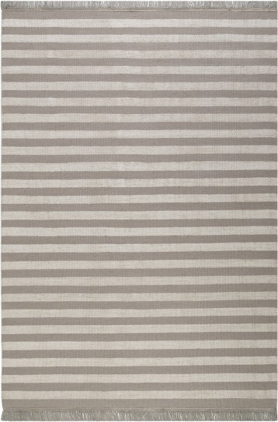 Kelim Teppich Taupe Beige aus Naturfasern » Noble Stripes « WECONhome