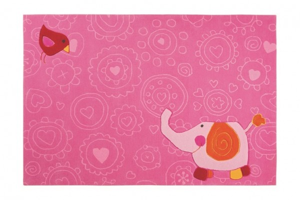 Sigikid Kinderteppich Pink » Happy Zoo Elephant «