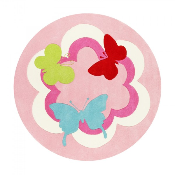 Esprit Kinderteppich » Butterfly Party « Rosa