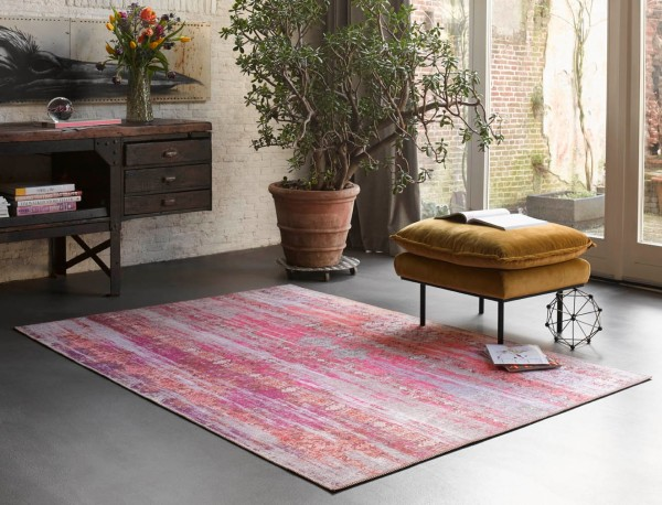 Vintage Teppich Rot Lila Orange Pink » Sunset in Faro « WECONhome