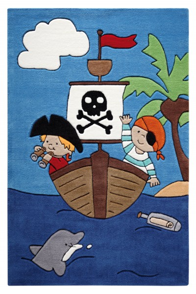 Smart Kids Kurzflor Teppich » Pirate Kids « blau