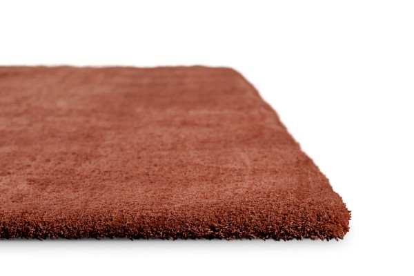 Teppich Rost Rot Hochflor » Sienna « Homie Living