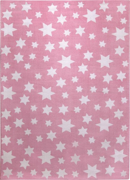 Kinderteppich Rosa Weiß » Jeans Star « Wecon Home