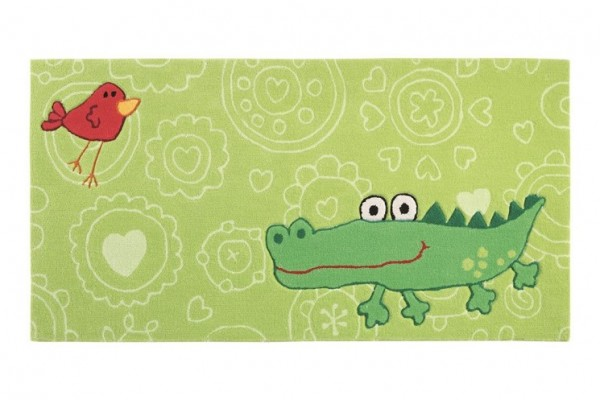Sigikid Kinder Teppich » Happy Zoo Crocodile « grün
